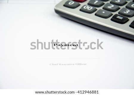 payment with calculator background - stock photo