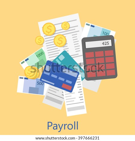 payroll icon - stock photo