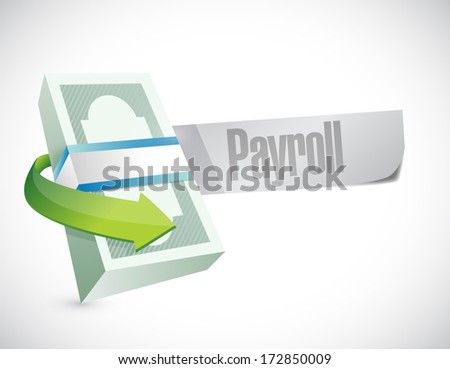 payroll message browser illustration design artwork graphic - stock photo