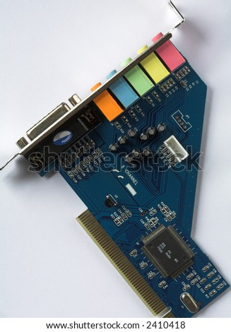 PC Audio Sound Card - stock photo