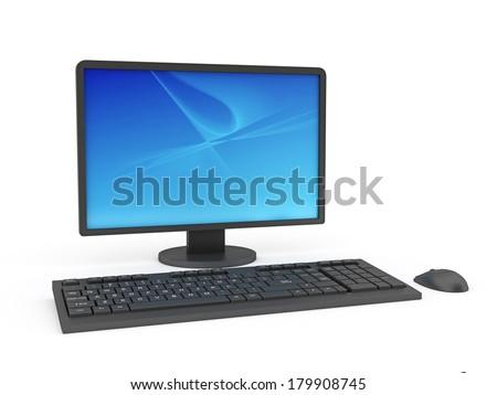 PC Desktop Computer  - stock photo