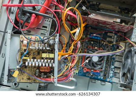 PC Power Supply Repair Stock Photo (Royalty Free) 626134307 ...
