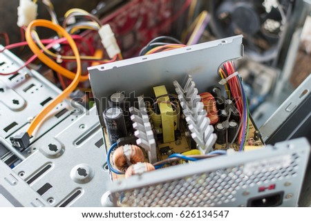 PC Power Supply Repair Stock Photo (Royalty Free) 626134547 ...
