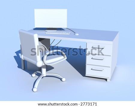 PC Workplace - stock photo