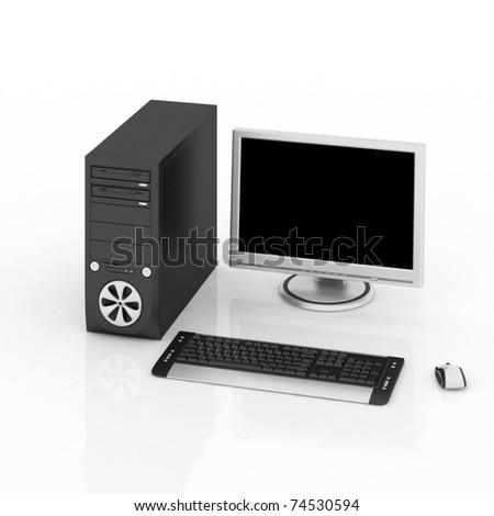 PC Workstation - stock photo