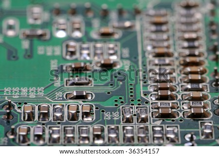 PCB board with electronic components