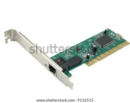 pci cards over a white background