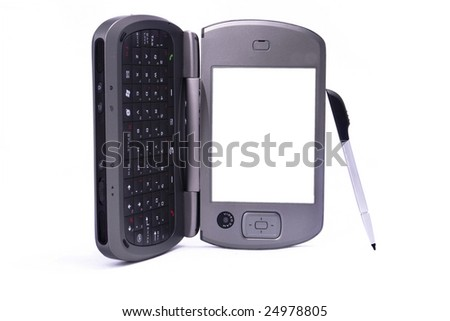 pda and stylus, the screen alone for your convenience - stock photo