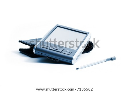 PDA on white background - stock photo