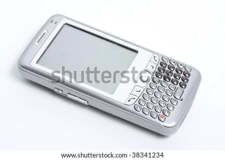 PDA Phone isolated with white background. - stock photo