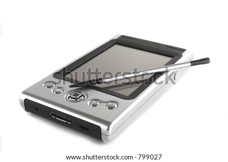 PDA, pocket computer, palm - stock photo