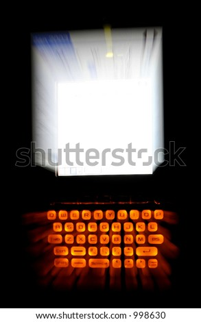 PDA Special Effect - stock photo