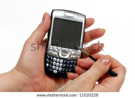 pda wireless device - stock photo