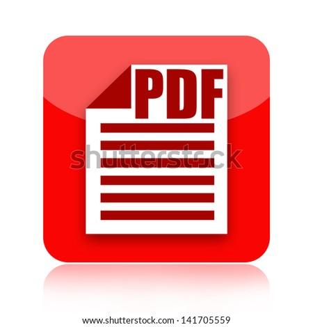 Pdf document file icon - stock photo