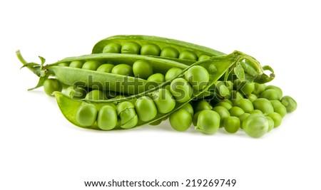 pea on a white background - stock photo
