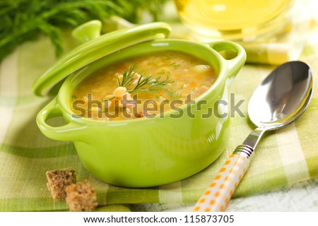 Pea soup - stock photo