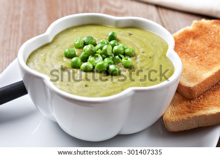 Pea soup - stock photo