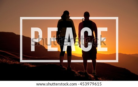 Peace Calm Freedom Quiet Solitude Independence Concept - stock photo
