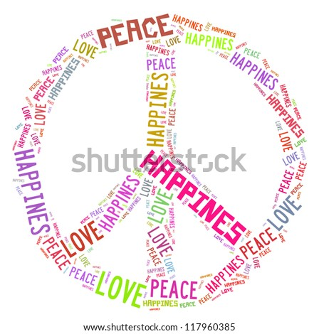 Peace related word cloud