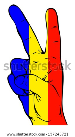 Peace Sign of the Romanian flag