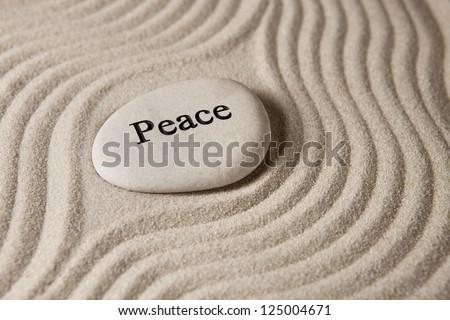 Peace stone - stock photo