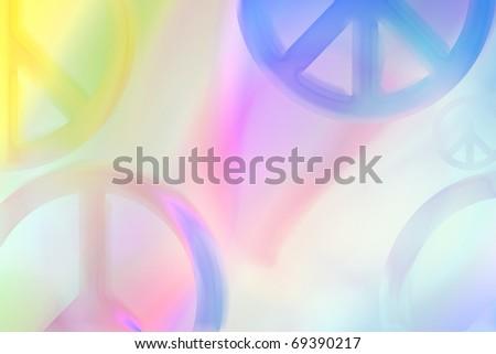 peace symbols abstract - stock photo