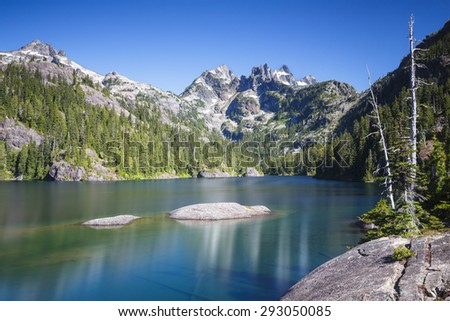 Peaceful and healthy landscape that is calm and tranquil - stock photo