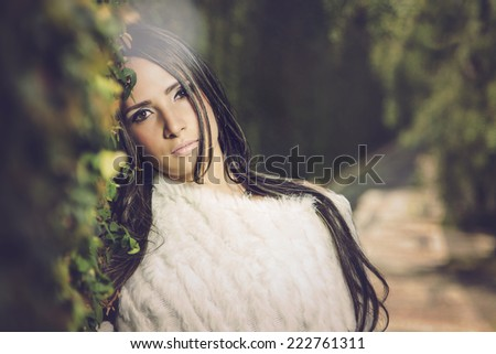Peaceful beautiful girl - stock photo