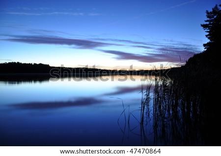 Peaceful evening - stock photo
