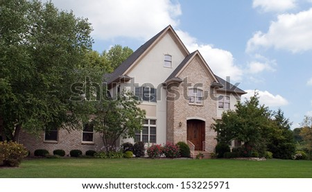 Peaceful House in Suburbs - stock photo