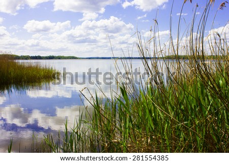 Peaceful Lakeshore in Germany - stock photo