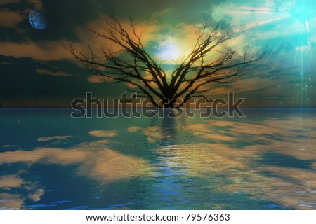 Peaceful Landscape - stock photo