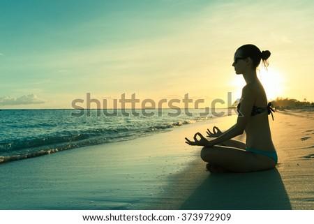 Peaceful meditation. - stock photo