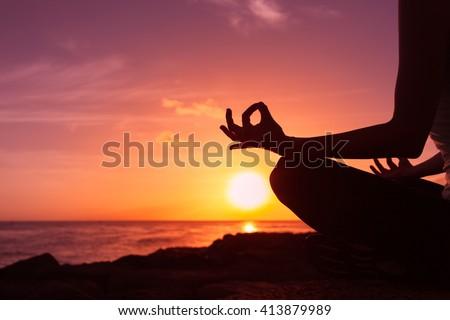 Peaceful meditation - stock photo