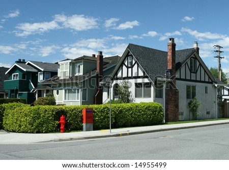 Peaceful Neighborhood - stock photo