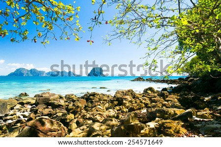 Peaceful Paradise From Inside  - stock photo