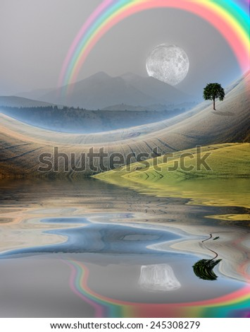Peaceful Rural Scene - stock photo
