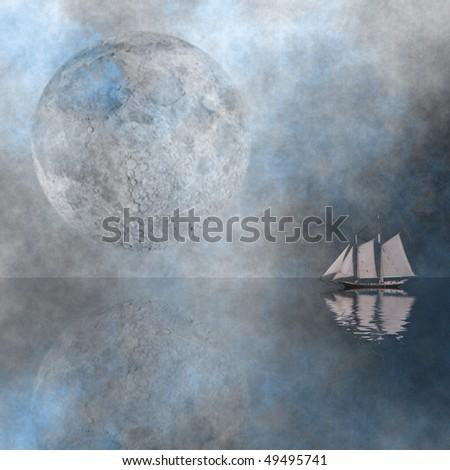 Peaceful sail - stock photo