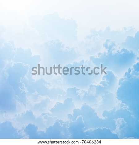 Peaceful sky, light from sky - stock photo