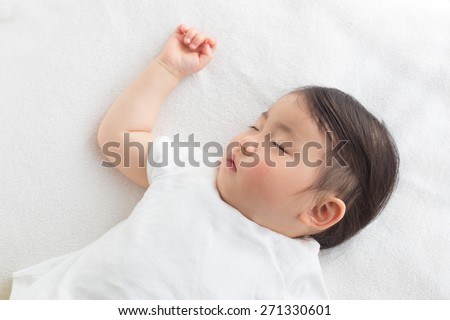 peaceful sleeping baby - stock photo