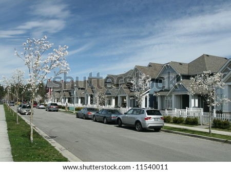 Peaceful Suburban Neighborhood - stock photo