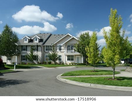 Peaceful Suburban Neighborhood - stock photo