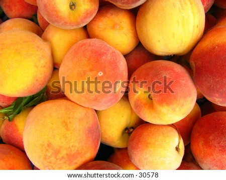 Peach Stack - stock photo