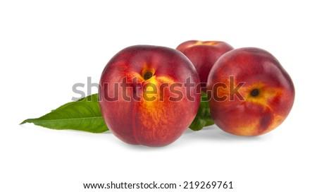peache on a white background - stock photo