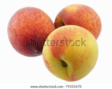 Peaches Isolated - stock photo