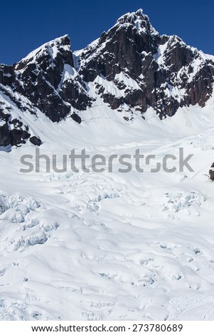 Peak at the top of Mt Baker - stock photo
