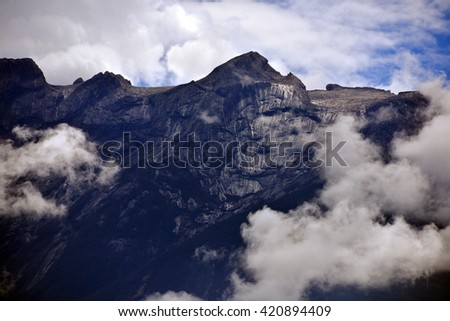 Peak of Mountain Kinabalu