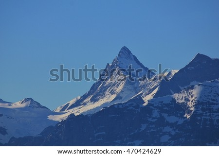 Peak of Mt Finsteraarhorn, Switzerland