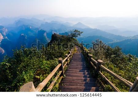 Peak trail - stock photo