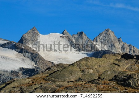 peaks and glaciers in High Valnontey - Gran Paradiso National Park